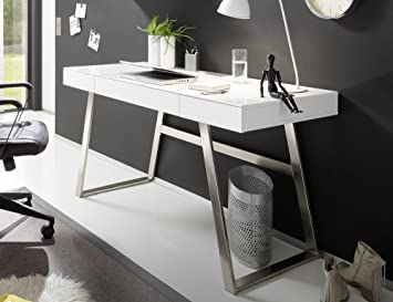 Trend de Escritorio Moebel Home Office - Mesa de Oficina Blanco ...
