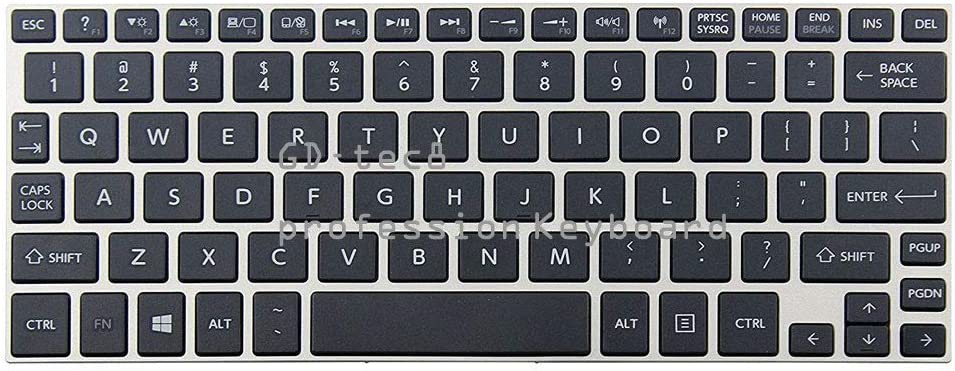 Laptop Keyboard Compatible for Toshiba Satellite NB15-A1101KL NB15-A1161FM NB15-A1203SL NB15-A1263SM NB15-A1380FM US Black Non-Backlit with Frame