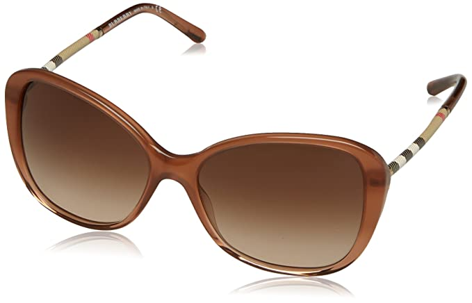 Burberry Womens 0BE4235Q 317313 Sunglasses, Brown Gradient/Browngradient, 57 Burberry