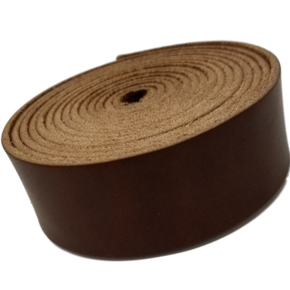 Leather Strips 1 Inch Wide and 4 Ounce Thick 1/16 Inch Thick (Medium Brown)