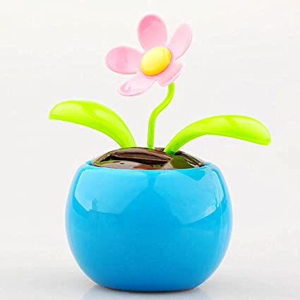 fec0053e770d6 Excellent.advanced Flip Flap Flowerpot Swing Solar Powered Moving Dancing  Flower Sunflower Car Decor Happy