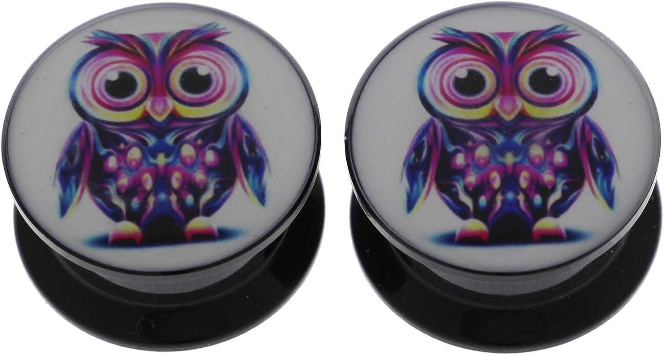 KUBOOZ 3 Pairs Double-Bird Acrylic Ear Plugs Tunnels Gauges Stretcher Piercings