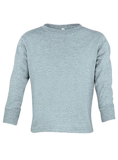 62d4ce0d19f1 Toddler Little Boys or Girls Plain Long Sleeve Shirt (2, Heather Grey)