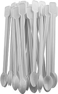 AXLIZER 200PCS Mini Plastic Coffee Blender Spoon Disposable Plastic Coffee Spoon Tea Spoon Coffee Stirring Rod Plastic Spoon Coffee Soup SpoonMini Tea Stirrer