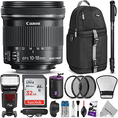 Canon EF-S 10-18mm f/4.5-5.6 IS STM Lens w/Complete Photo an
