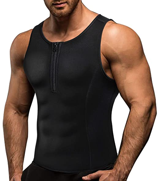 8aaefef72c Amazon.com  Junlan Men Weight Loss Shirts Waist Trainer Shaper Slim Tank  Top Workout Exercise Vest  Clothing