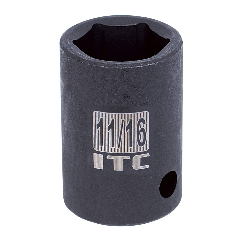 22mm 6 Point Regular 26322 ITC Professional 1//2-Inch Drive Metric Impact Socket
