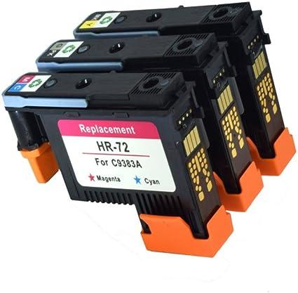 ouguan cabezal de impresión impresoras HP 72 C9384 A C9383 A C9380 ...