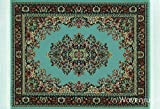 Blue Woven Rug Mouse Pad - Turkish Design Carpet Mouse Mat For The Computer