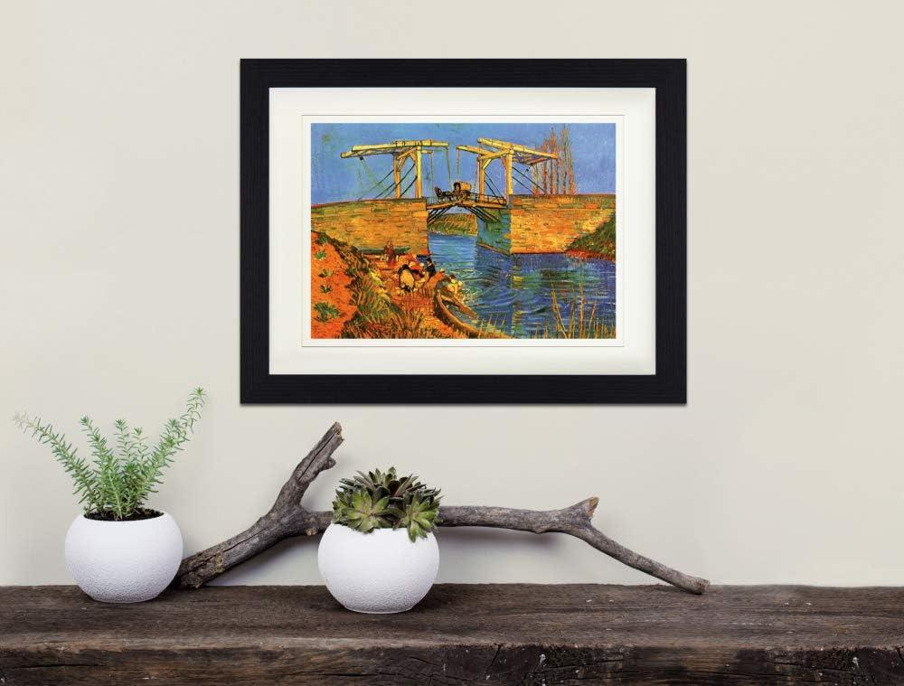1888 Die Br/ücke Von Langlois Bei Arles Mit W/äscherinnen Detail Gerahmtes Poster F/ür Fans Und Sammler 40 x 30 cm 1art1 Vincent Van Gogh