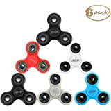 JESBAN 6 Pack Fidget Spinner Hands EDC Toy Stress Reducer Finger Spinner Fidget for Adults Kids or ADHD, ADD, Focus, Boredom, Killing Time