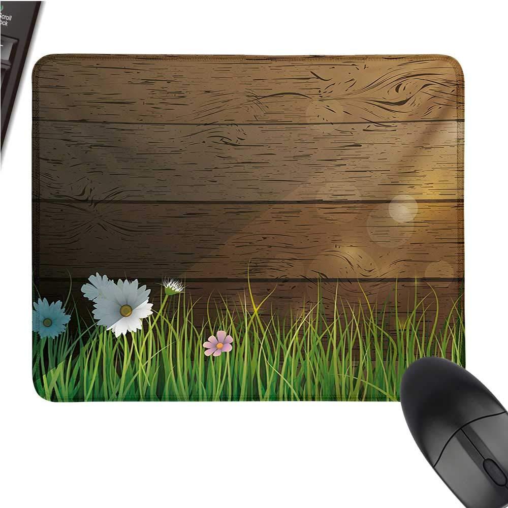 花柄マウスパッド 湖の海 秋の季節 手描き 水平 手描き プリント ブラック 布製マウスパッド 9.8インチx11.8インチ マルチカラー 9.8