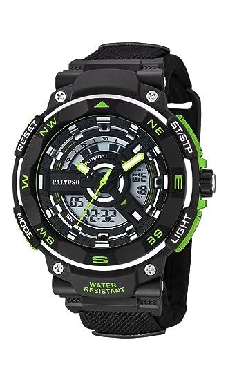 Calypso K5673/3 Reloj de Cuarzo analógico para Hombre con Pantalla LCD Digital y Correa de plástico Color Negro: Amazon.es: Relojes