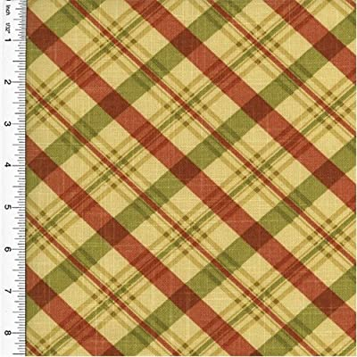 Waverly Chit Chat Plaid Print Red Home Decorating Fabric, Fabric Sold By the Yard