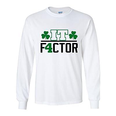 "LONG SLEEVE White Isaiah Boston ""IT Factor"" T-Shirt"