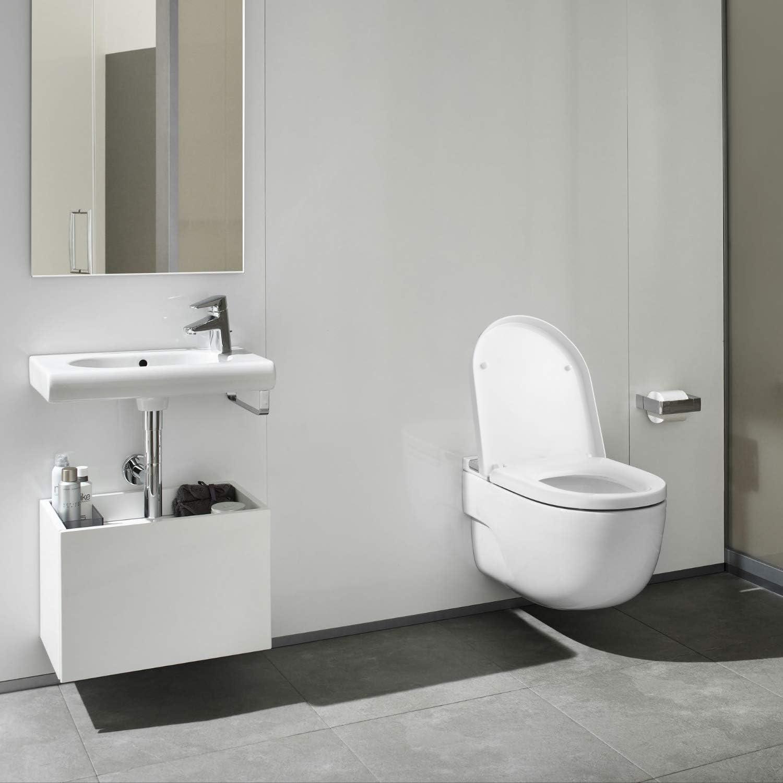 facile da installare e pulire montaggio rapido a 2 bottoni e cerniere in acciaio inox Sedile WC Sistema di Fissaggio Aggiustabile HIMIMI Copriwater Universale D Forma con abbassamento automatico