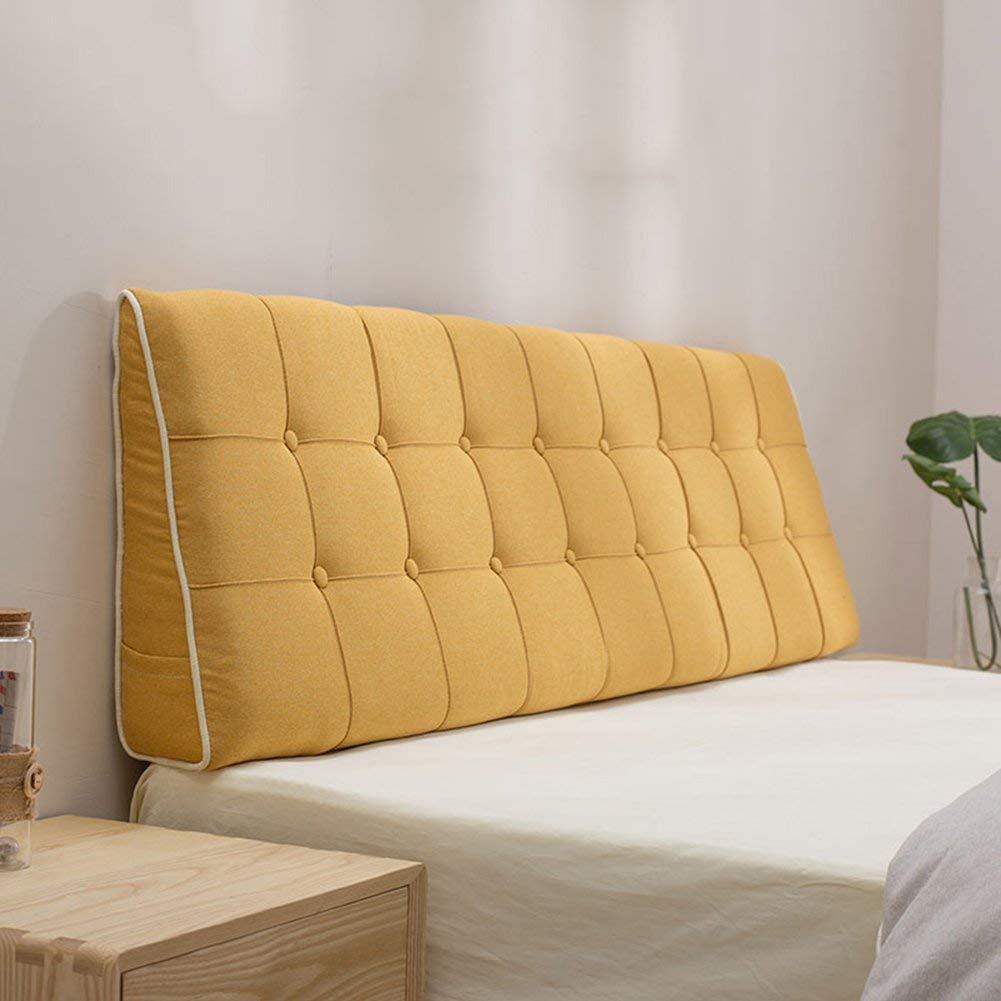 GLP 長方形のベッドヘッドクッション三角ソファ大きなバックソフトバッグ畳ベッドピローリムーバブルと洗えるバッククッション、7色&10サイズ (Color : G, Size : 200 x 15 x 50cm) B07R2BSP54 G 200 x 15 x 50cm