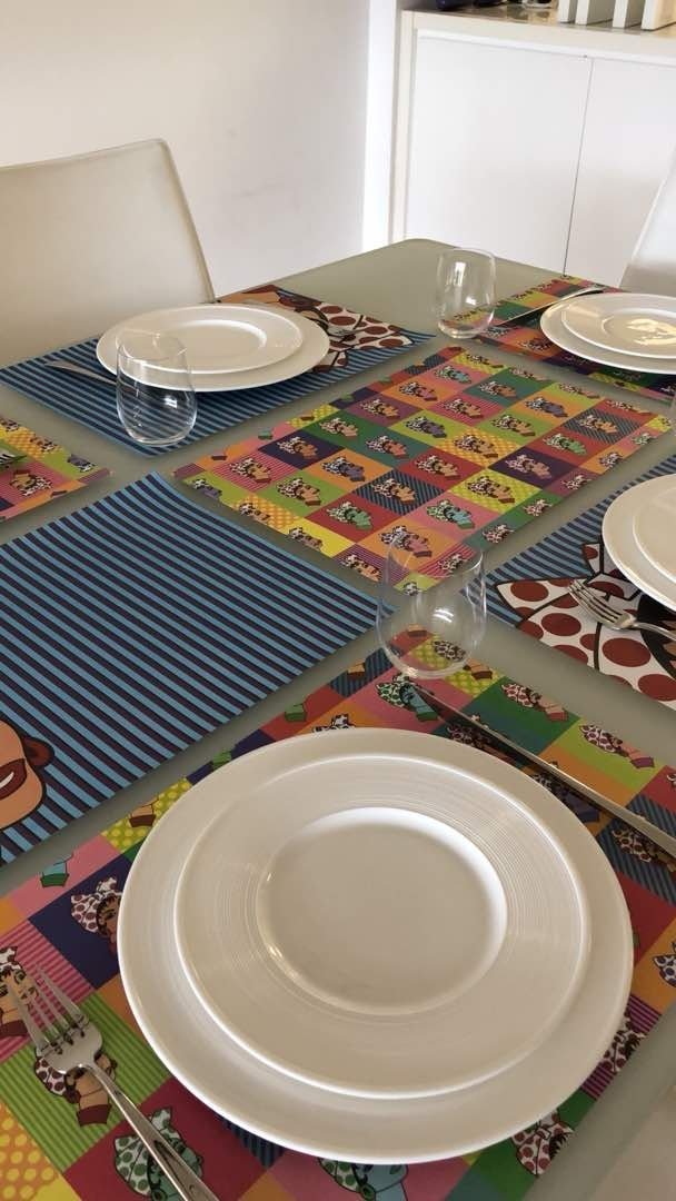 Petunia Disposable Paper Placemats-50 Count multiple design block.Chic & Unique paper placemats for your dining experience/parties/special events/showers.Very easy to clean up/(Table Pop, Bond) by Petunia (Image #1)