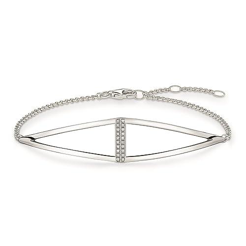 Thomas Sabo - Pulsera para Mujer de Plata de Ley 925/1000 con Diamante