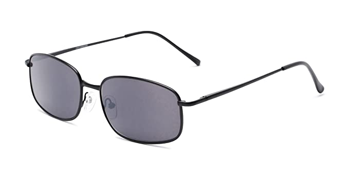 Readers.com | The Randy Reading Sunglasses +1.00 Matte Black with Smoke Rectangle Stylish Men's Full Frame