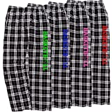 Basketball Black and White Checkered Flannel Lounge Pants