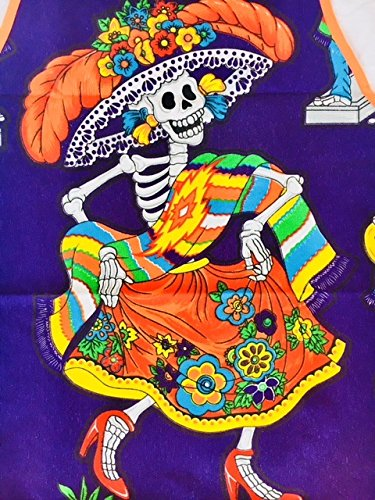 Purple ''Catrina's Dance Floor'' Apron - 1 Size Fits All  and Double Lined for Women and Men