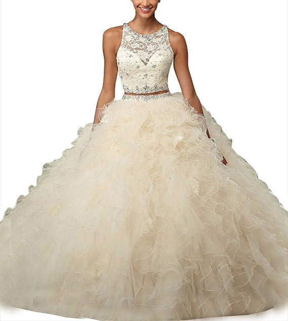 Novia _ Mall Mujer Dos Piezas vestidos de quinceañera de novia Sweet Niñas Vestido de 16