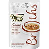 Purina Fancy Feast Broths Adult Wet Cat Food Complement - (16) 1.4 oz. Pouches