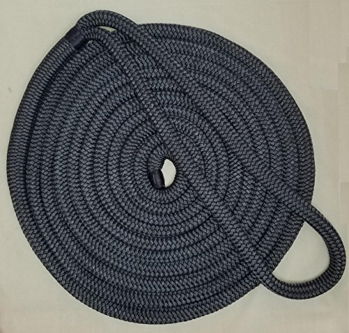 Rope Nylon Yacht Braid (5/8 Premium Double Braid Nylon Dockline 100% Made in USA 24