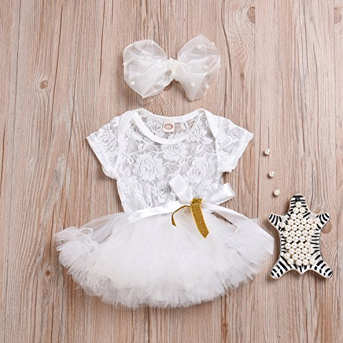 Younger Tree Newborn Toddler Baby Girls Lace Dress Party Tutu Formal