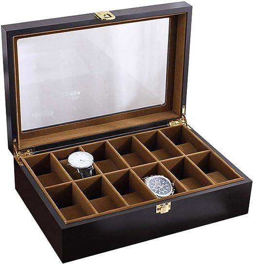 GOVD Caja Relojes Hombre Madera Mujer Caja de Relojes 12 ...