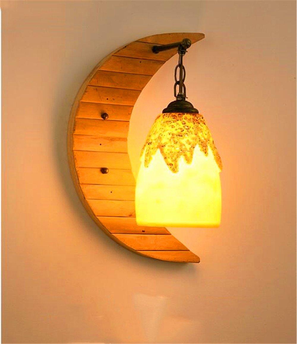 JLXMZX Lámpara de Pared Retro Iluminación nórdica del Arte Sala de ...
