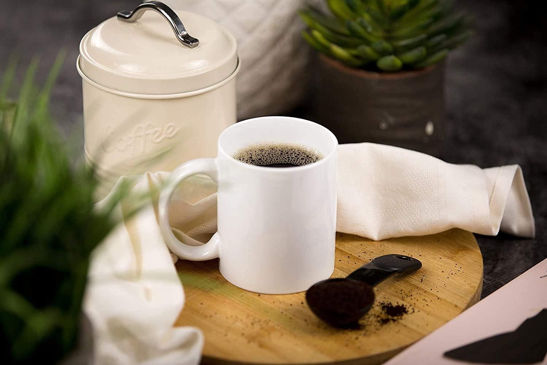 INTBUYING 36PCS Sublimation Blank Ceramic Coffee Mugs Case White Cups Mugs Set Heating Transfer Press Sublimation Porcelain Coffee Tea Mugs 15OZ
