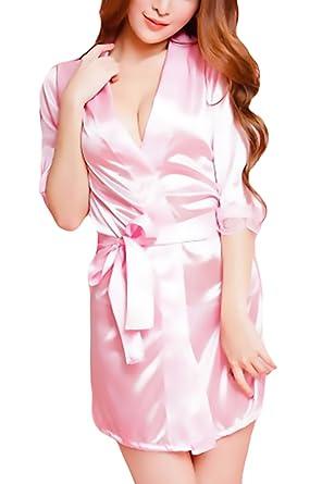 Bomshel Women\'s Dressing Gowns & Kimono(Pink,Free Size): Amazon.in ...