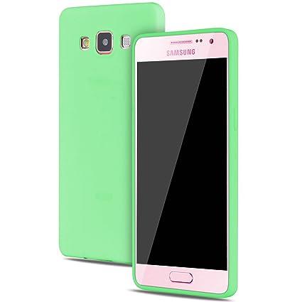 Funda Samsung Galaxy A5 2015 Carcasas Gel TPU Silicona Flexible Candy Colors Ultra Delgado Ligero Goma Case Cover Caja Suave Gel Shock Absorción Anti ...