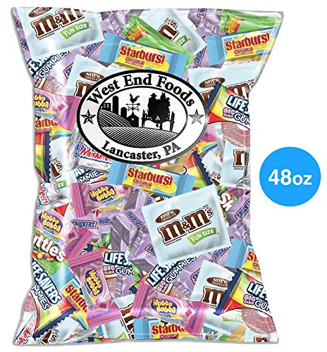 Candies Kids Dress - Chocolate and Candy (48oz Pack) M&M's, Snickers, Twix, Skittles, Starburst, Gum, 3 Musketeers for Kids Baskets