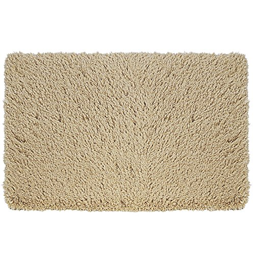 Norcho Non slip Absorption Shower Rug Soft Microfiber Antibacterial Rubber Luxury Bath Mat 2.6x3.9ft Khaki (Absorb Rugs Bathroom That Water)