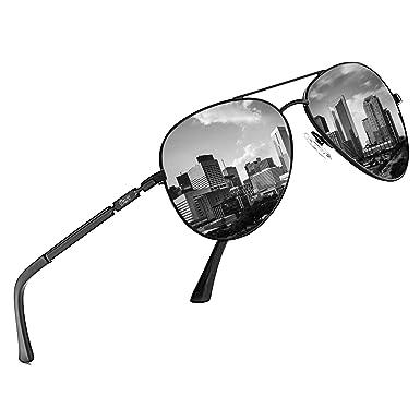 710810566276 DUCO Men's Women's New Design Classic Retro Polarised Mirrored Pilot  Sunglasses Filter Category 3 ...