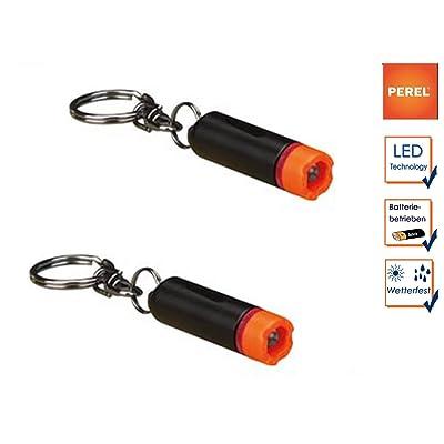 Lot de 2mini lampe torche LED avec porte-clés imperméable, Ø 1cm/Longueur 3,6cm
