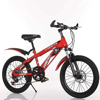 18 pulgadas de velocidad variable bicicleta de montaña, confortable silla, antideslizante del pedal, bicicletas niños, Suspensión Tenedor, seguro y sensible de freno, (Color : Red): Amazon.es: Coche y moto