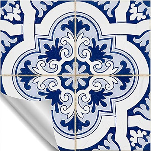 4 Odhams Press Moroccan FES Re-Tile Decal with White Background
