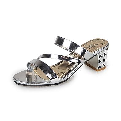 ffbf9ee0273 👀Slippers Pantoufles l été Femme honestyi Summer Fashion Femmes Chers  Cheville Pantoufles Chaussures à