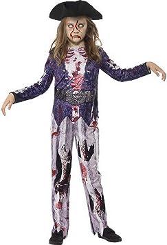 Luxuspiraten – Disfraz de Novia Pirata de Zombi para niña, con ...