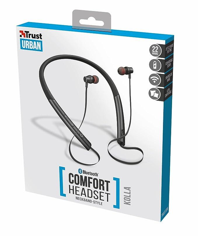 Trust Urban Kolla - Juego de Auriculares inalámbricos con Bluetooth, Color Negro: Amazon.es: Electrónica