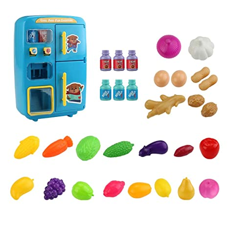 K9CK Nevera de Juguete para Cocina Infantil con 32 Piezas ...