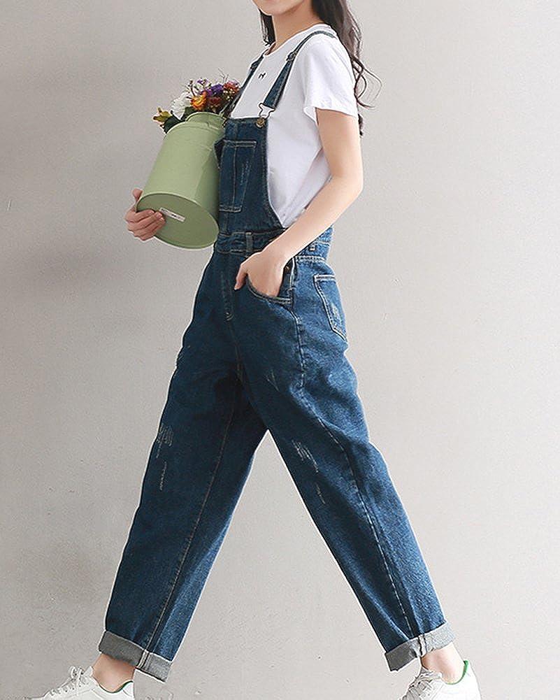 926a36b6f6d Women Baggy Dungarees Harem Pants Jumpsuits Overalls Loose Denim Trousers  Ankle Pants  Amazon.co.uk  Clothing