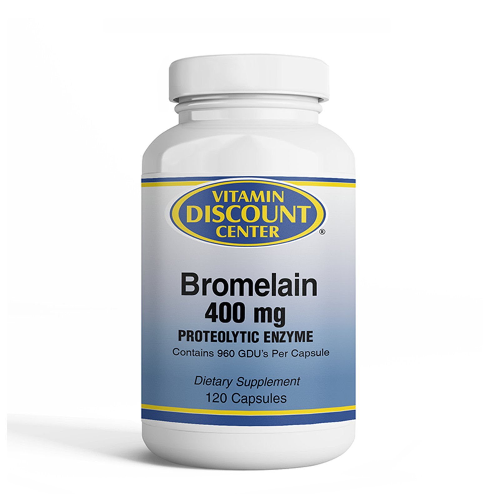 Vitamin Discount Center Bromelain 400mg, Digestive Enzymes, 120 Capsules