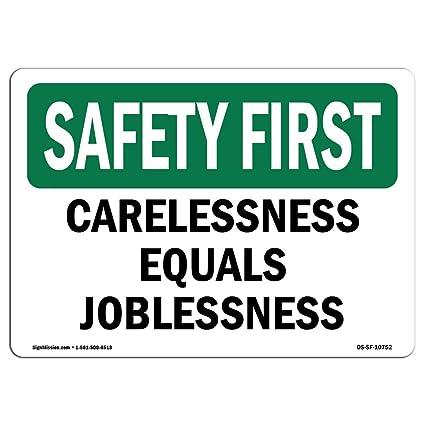 Señal de seguridad de Osha - La tranquilidad equivale a ...