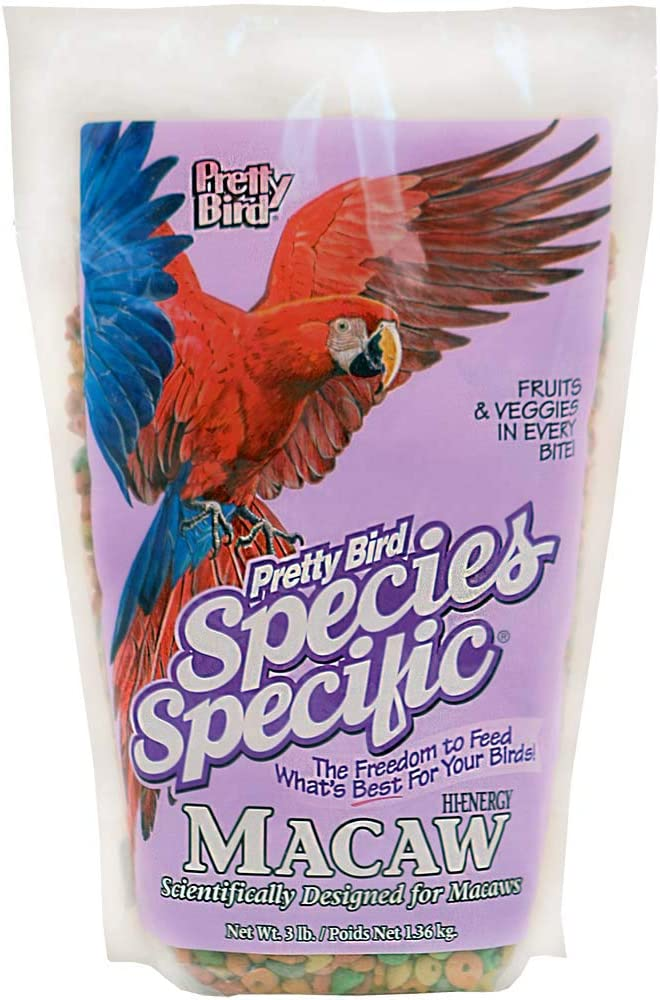Pretty Bird International Bpb73310 Species Specific Hi-Energy Special Macaw Food For Birds, 3-Pound