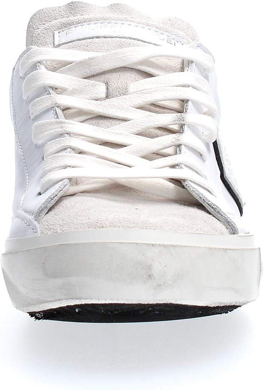 PRLU Philippe Model Sneakers Prsx Basic Blanc Noir Uomo MOD